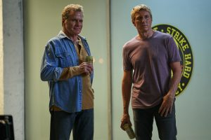 Pictured, Martin Kove and William Zabka in COBRA KAI - SEASON 2 - EPISODE 202. Courtesy, YouTube Premium via MWPR.