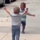 The viral hug: Two toddlers show what life is all about