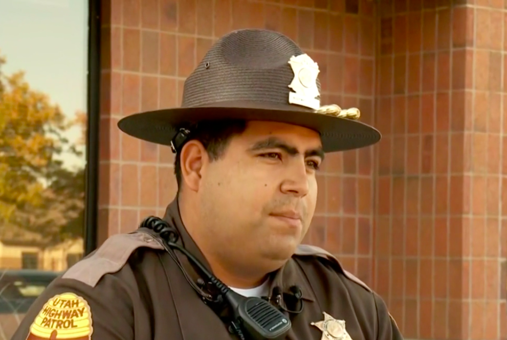 Utah State Trooper saves man from train tracks in the nick of time