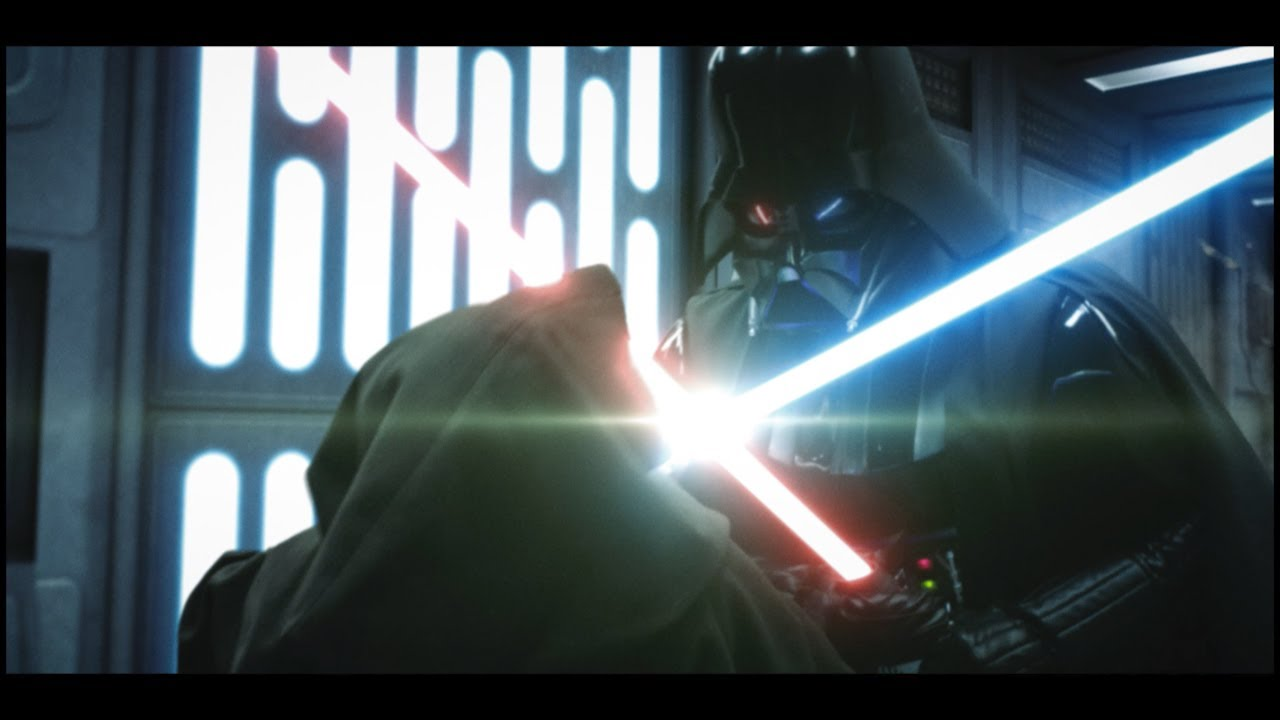 Star Wars Scene 38 re-imagined is dream Vader vs Obi-Wan matchup